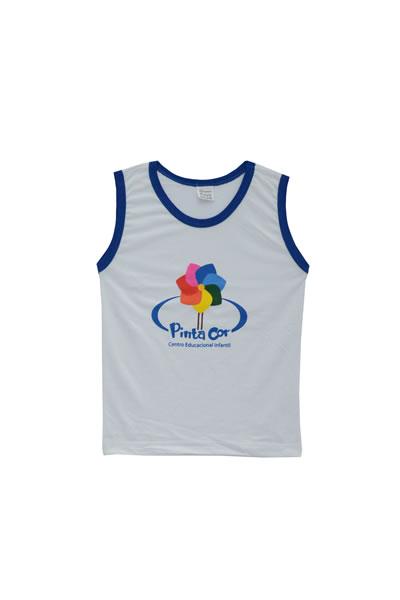 0e17f0fe5244a3 Uniforme Pinta Cor - Camiseta Regata